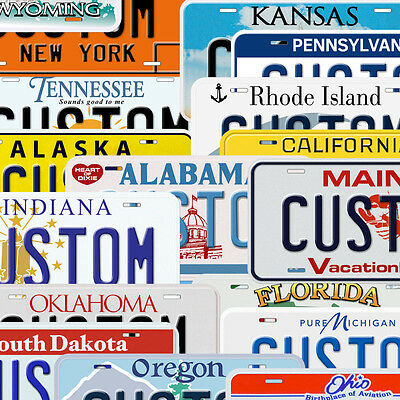 USA State Custom Aluminum Any Name Text Number Novelty Car License Plate • 14.16$