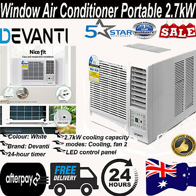 AU414.04 • Buy Window Air Conditioner Portable W/o Reverse Cycle 2.7kW Wall Fan Cooling Only