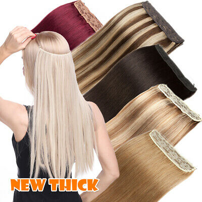£20.76 • Buy Thick 120g Hidden Secret Wire In 100% Remy Human Hair Extensions One Piece AAAAA