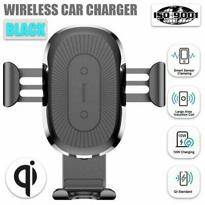 AU19.99 • Buy Baseus Qi Wireless Charger Charge Car Mount Holder Charging Pad Mobile Stand AU