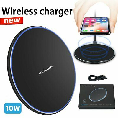 AU9.99 • Buy Qi Wireless Charger FAST Charging Pad Receiver For I Phone 11 XS XR 8 Samsung S9