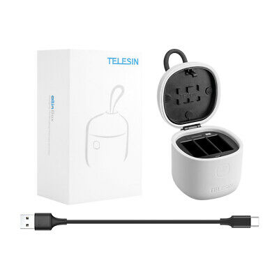 $ CDN23.27 • Buy TELESIN 3 Ways Battery Charger TF Card Reader Storage Box For Gopro Hero 7 6 5