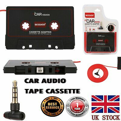 £3.99 • Buy Car Audio Tape Cassette Adapter For IPhone IPod MP3 Radio 3.5mm Jack AUX W/Mic