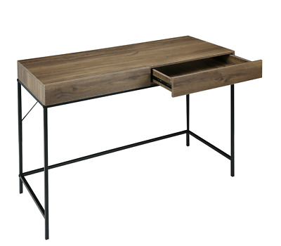 AU79.95 • Buy 2 Drawer Industrial Desk Home Office Student Study Area Durable Modern Storage