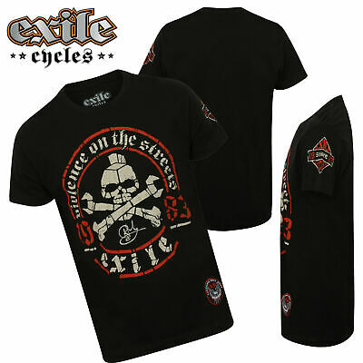 Mens Exile Cycles Biker T Shirt Genuine Custom Motorcycle Chopper Bike Clothing • 19.99£