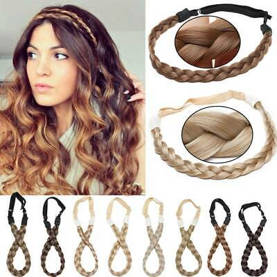 $7.90 • Buy US Stock Synthetic Hair Band Plaited Headband Braided With Elastic For Human 12