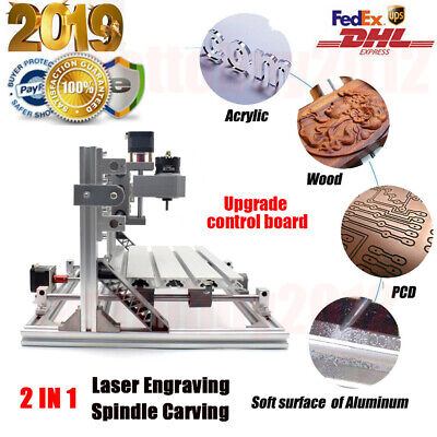 Upgrade CNC3018 DIY CNC Router 2IN1 3 Axis Laser Engraving Machine Wood Carving • 84.99£