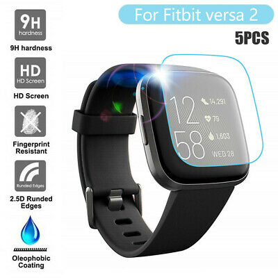 $ CDN7.29 • Buy 5PCS Clear Film Tempered Glass Screen Protector For Fitbit Versa 2 Smart Watch M