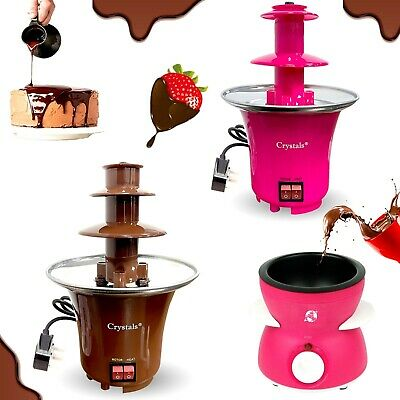 £15.49 • Buy 3 Tier S/S Steel Electric Chocolate Warmer Dip Fountain Party Fondue Melting Pot