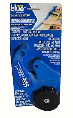 $22.99 • Buy 3M COMPANY Blue Tape & Paper Dispenser, With 6-In. Blade M1000-SBN