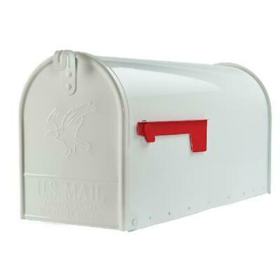 $38.45 • Buy Large Mail Box Post Mount Package Parcel Heavy Duty Rust Resistant Steel White