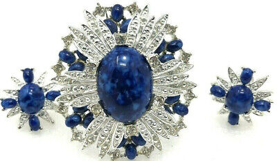 Vintage Sarah Coventry Brooch Pin Clip Earrings Signed Rhinestone Jewelry • 29.99$