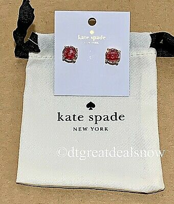 $ CDN27.78 • Buy NEW Kate Spade Red Enamel Gumdrop Round Gold Studs Earrings