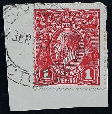 AU25 • Buy 1916 Australia 1d Red KGV Stamp Double Circle Type FOOTSCRAY VICTORIA Postmark