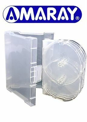 1 X 9 Way Clear Megapack DVD 32mm [9 Discs] New Empty Replacement Amaray Case • 7.99£