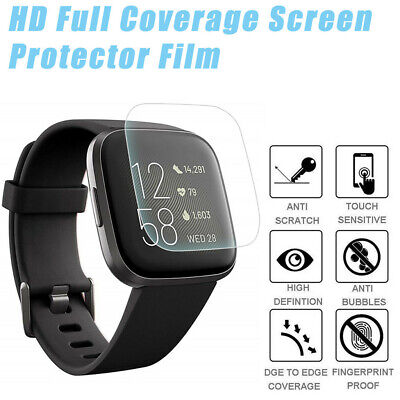 $ CDN7.50 • Buy 3X HD Full Coverage TPU Screen Protector Film Cover For Fitbit Versa 2 Watch MP