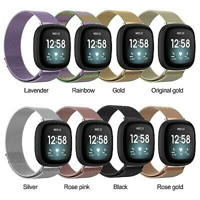 AU9.99 • Buy Luxury Milanese Stainless Steel Replacement Wristband For Fitbit Versa 3
