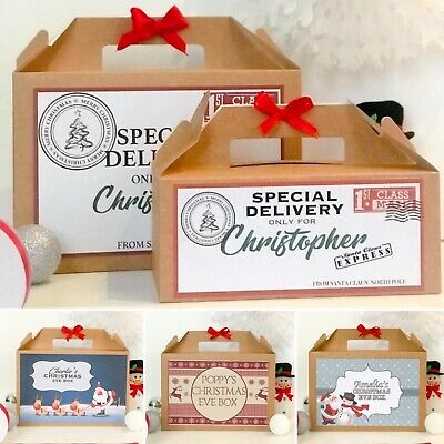 Personalised Christmas Eve Gift Box | Xmas Favour Present | Large & Small Sizes  • 4.30£
