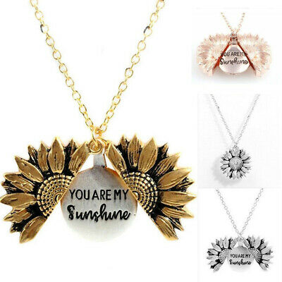 AU3.75 • Buy Fashion Personalized You Are My Sunshine Open Sunflower Pendant Necklace Women
