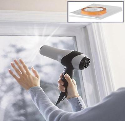 £8.99 • Buy Double Glazing Film, Window Insulation Shrink Film. Draught Excluder 12m2