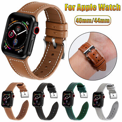 $ CDN10.17 • Buy For Apple Watch Series 5 4 3 2 1 Genuine Leather Band Strap IWatch 38 42 40 44mm