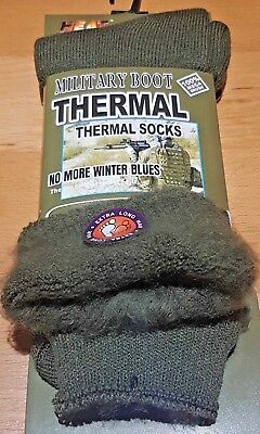 1 Pairs Of Men's Army Socks, 2.4 Tog Thermal Long Military Boot Socks, Size 6-11 • 4.99£
