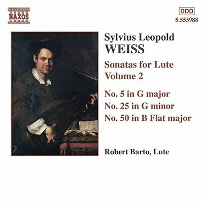 Ilvius Leopold Weiss - Weiss: Sonatas For Lute, Vol.2 [CD] • 8.49£