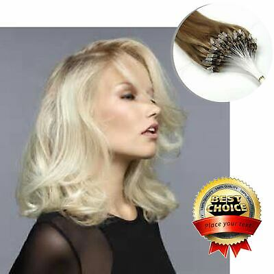 100S Russian Remy Beauty Human Hair Extensions Micro Loop Beauty Remy Hair UK • 29.78£