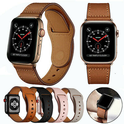 $ CDN7.90 • Buy Genuine Leather Watch Band Strap For Apple IWatch Series 5 4 3 2 38/42mm 40/44mm