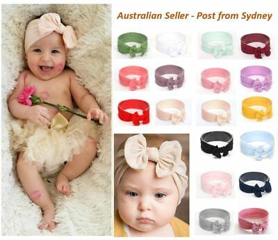 AU2.89 • Buy Baby Nylon Soft Bow Head Wrap, Soft Top Knot Baby Headband Girl Accessories