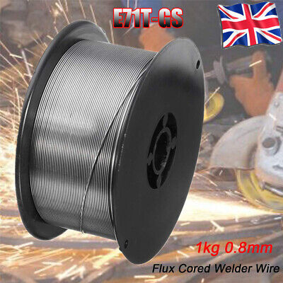 Mig Wire Gasless Flux Cored 0.8mm 1kg Welding Welder Reel No Gas Stainless Steel • 9.59£