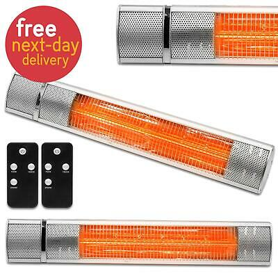 £84.99 • Buy 2000W Wall Mounted Infrared Electric Outdoor Patio Garden Heater Remote Control