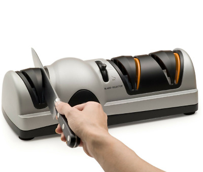 Professional Electric Knife Sharpener Angle Guide 3 Stages Chef Precision System • 57.06$