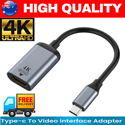AU10.95 • Buy 4K Type C To HDMI Adapter 30Hz USB C 3.1 Male To HDMI Female Cable FOR MACBOOK M