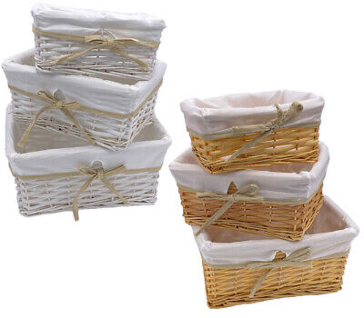 Wicker Storage Basket Birthday Christmas Xmas Gift Hamper With Removable Lining • 7.65£