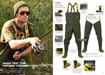 New Vass - Tex 700 Edition Chest Wader 700 - 70E E Nova Series - Carp Fishing • 78.99£