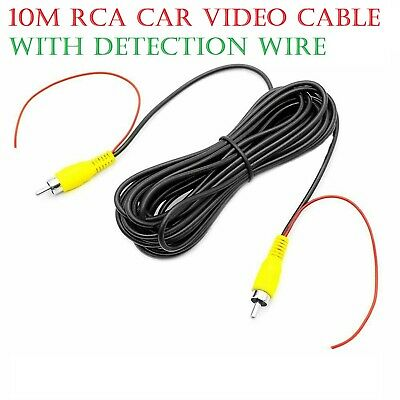 10M RCA Car Video Cable With Detection Wire For Car Rear View Camera And Monitor • 5.98£