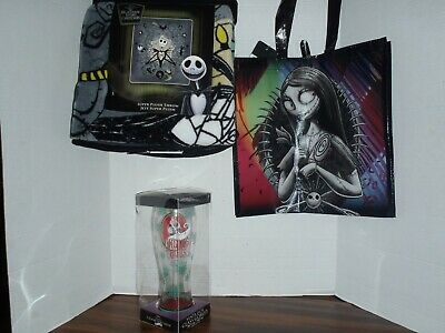 The Nightmare Before Christmas Jack Plush Throw Blanket & Tote Bag With Goblet • 34.08£