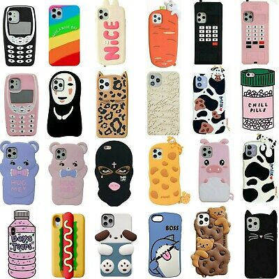 AU3.86 • Buy  Cute 3D Cartoon Silicone Case For IPhone 12 11 Pro Max XR XS 8 7 6 Plus Covers
