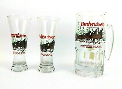 $ CDN19.80 • Buy Budweiser King Of Beers Clydesdale Horses W/ Wagon 1989 Christmas Mugs Set Of 3