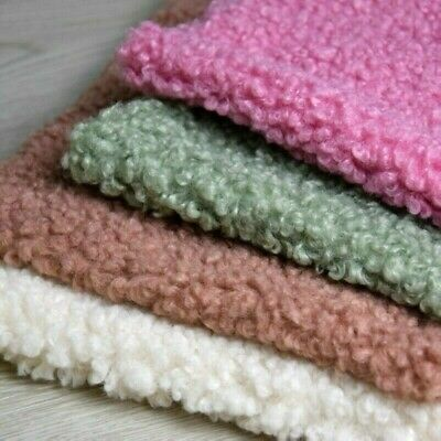 Sherpa Fleece Fabric Lamb Cashmere Faux Wool Thick Apparel Material By Yard NR9 • 25.18£