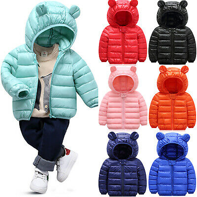 Toddler Kids Boys Girls Winter Warmer Hooded Down Puffer Parka Coat Puffa Jacket • 11.39£