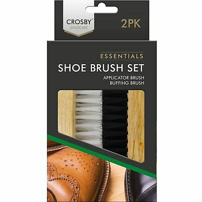 £3.09 • Buy 2pc Traditional Boot SHOE Brush Polish Buffing Buff Shine Leather Clean Smart