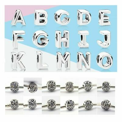 Genuine Authentic Pandora Alphabet Vintage Letter Charm Silver Bead All A-Z • 12.90£