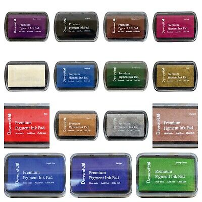 Dovecraft Pigment Ink Pads Stamping In Many Colours - Pink Blue Black Red Blue • 2.95£