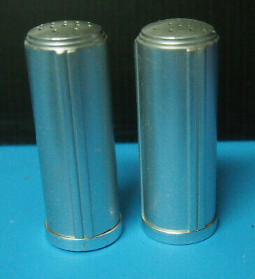 Vintage Kensington Aluminum Art Deco Style Salt & Pepper Shakers • 11.98$