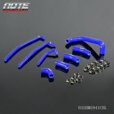 $40.01 • Buy FOR KAWASAKI ZX7R 1996-2003 Blue Silicone Radiator Coolant Hose Clamps Kit