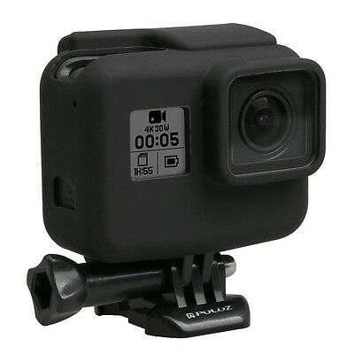 $ CDN4.30 • Buy For GoPro HERO 7/5, Housing Soft Silicone Protective Case Skin With Lens Cover