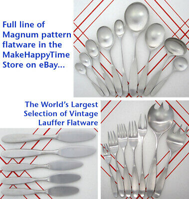 $59.95 • Buy Choose Your Pieces Of Norway Lauffer Magnum 18/8 Stainless Mid Century Flatware
