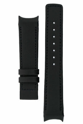 Omega Speedy Reduced OEM  Curved End Watch Strap  BLACK HEAVY CALF 18mm • 35£
